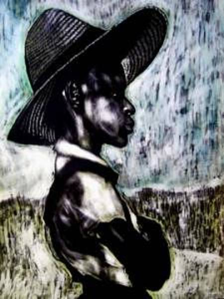 Chester Mixed Media - The  Berry Picker by Chester Elmore