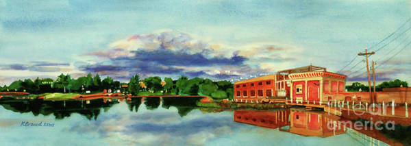 Wall Art - Painting - The Best Dam Town In Minnesota by Kathy Braud