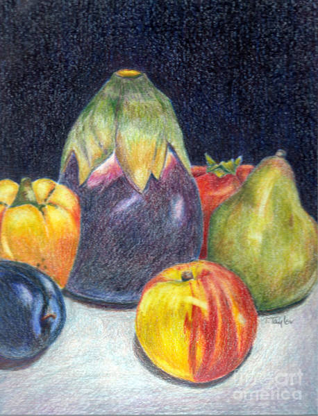 Organic Garden Drawing - The Best Of Summer by Terry Taylor