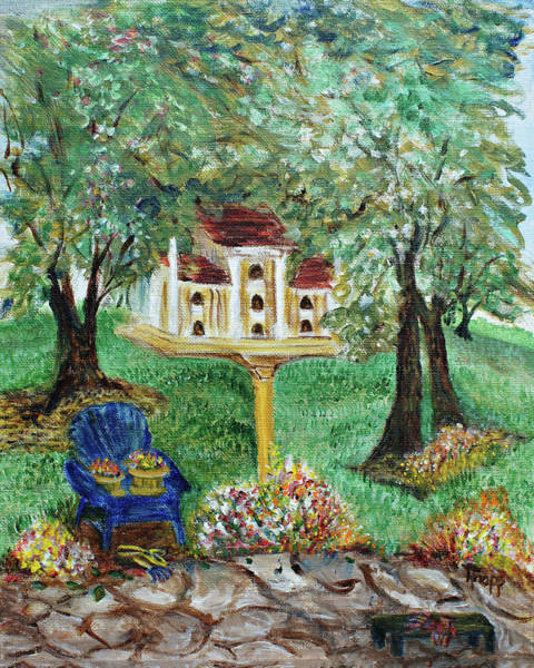 Painting - The Best Seat In The House by Kathy Knopp