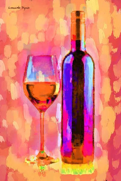 Cellar Digital Art - The Best Wine Orange - Da by Leonardo Digenio