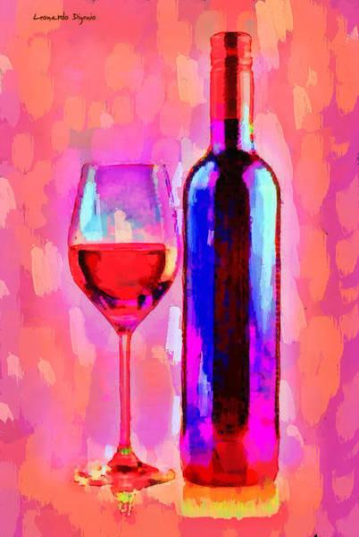 Cellar Digital Art - The Best Wine Red - Da by Leonardo Digenio
