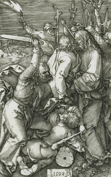 Albrecht Durer Wall Art - Relief - The Betrayal Of Christ by Albrecht Durer