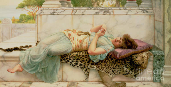 Engagement Wall Art - Painting - The Betrothed by John William Godward