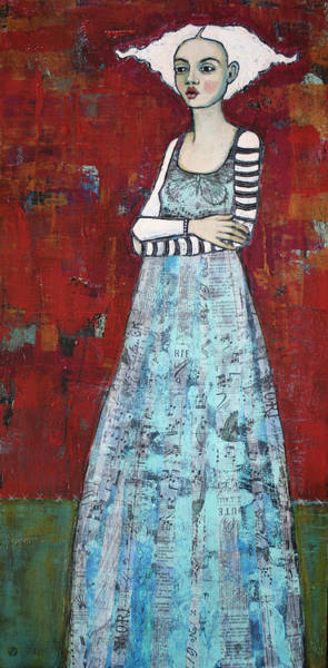 Female Portrait Painting - The Better To Hold You With by Jane Spakowsky