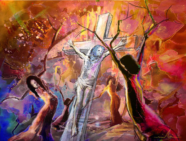 Painting - The Bible Crucifixion by Miki De Goodaboom