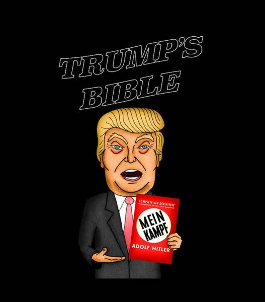 Election 2016 Painting - The Bible Of Trump by Sean Corcoran