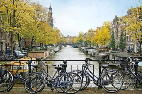 Photograph - The Bicycle City Of Amsterdam by David Birchall