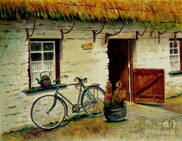 Painting - The Bicycle by Karen Fleschler