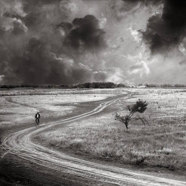 Wall Art - Photograph - The Bicyclist by Floriana Barbu