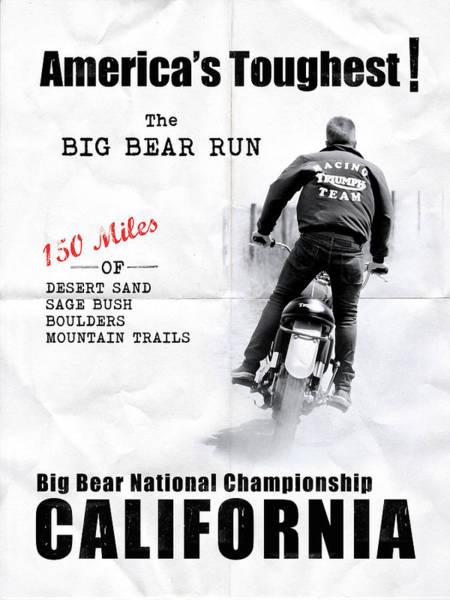 Big Bear Photograph - The Big Bear Run by Mark Rogan