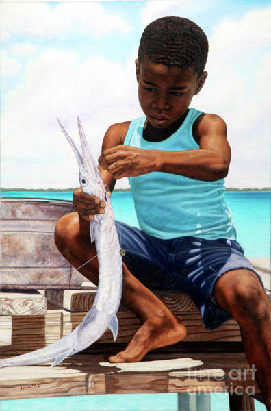 Painting - The Big Catch by Nicole Minnis