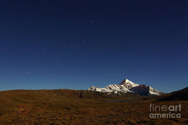 Photograph - The Big Dipper Above Mt Huayna Potosi Bolivia by James Brunker