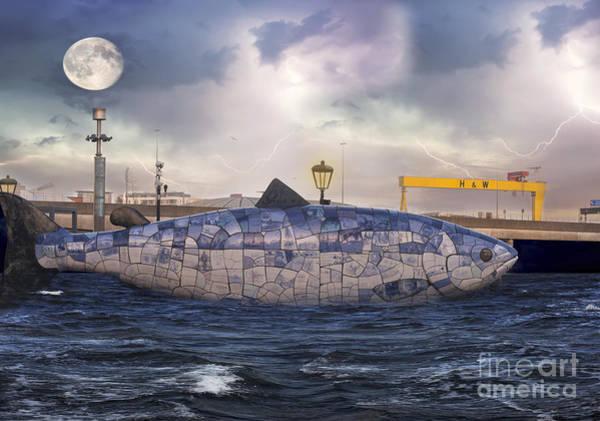 The Crane Photograph - The Big Fish by Juli Scalzi