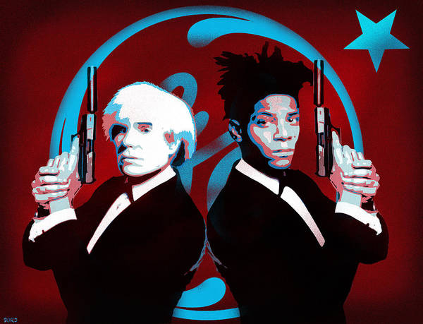 Dope Mixed Media - The Big Guns - Warhol And Basquiat by Surj