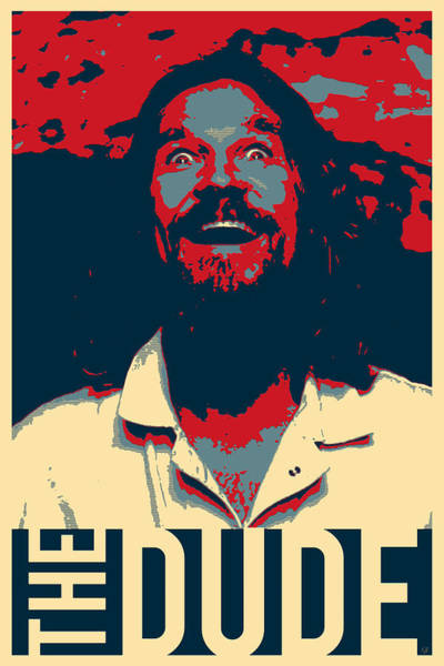 Digital Art - The Big Lebowski Revisited - The Dude by Serge Averbukh