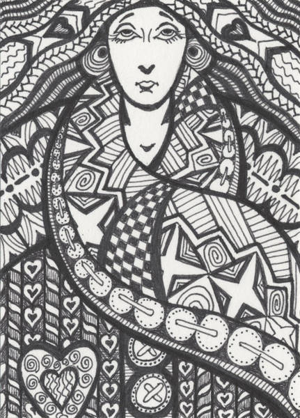 Organic Drawing - The Big Overcoat by Amy S Turner