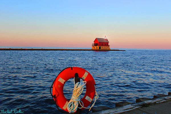 Lighthouse Wall Art - Photograph - The Big Red Lighthouse by Michael Rucker