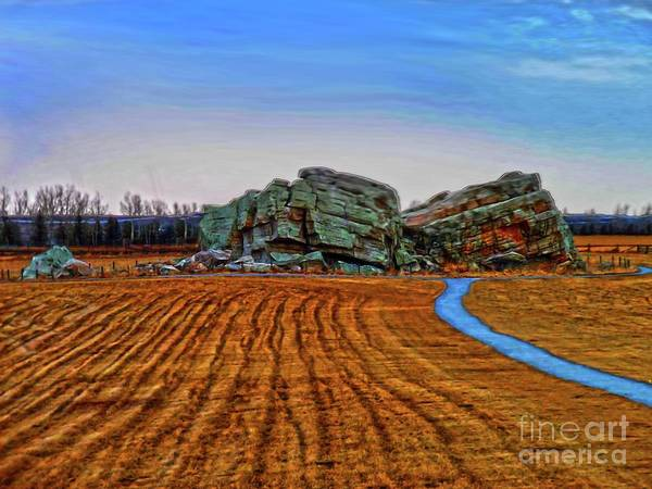 Glacial Erratic Photograph - The Big Rock - Hdr by Al Bourassa