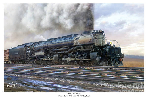 Union Pacific Railroad Wall Art - Painting - The Big Show by Mark Karvon