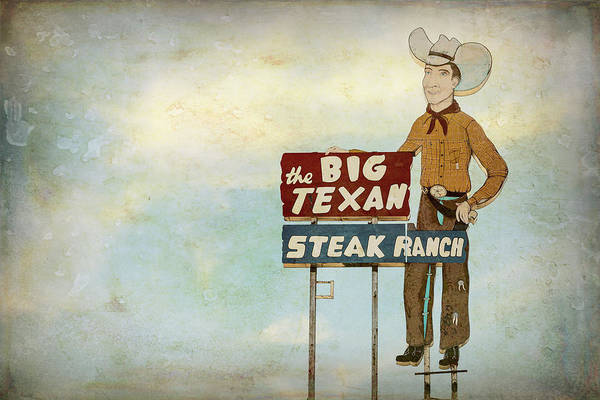 Wall Art - Photograph - The Big Texan Steak Ranch - #3 by Stephen Stookey