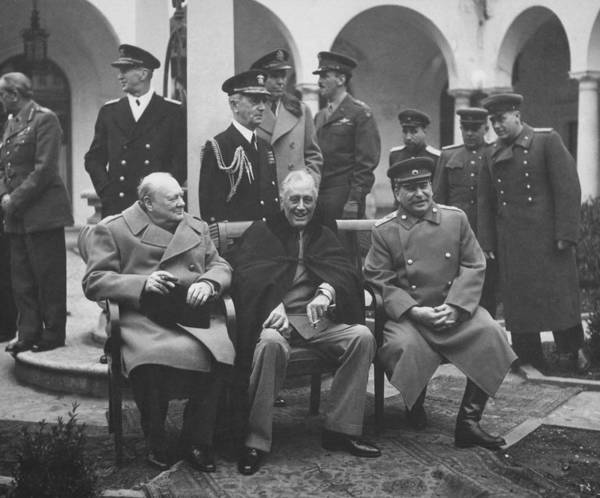 Wwii Photograph - The Big Three -- Ww2 Leaders by War Is Hell Store