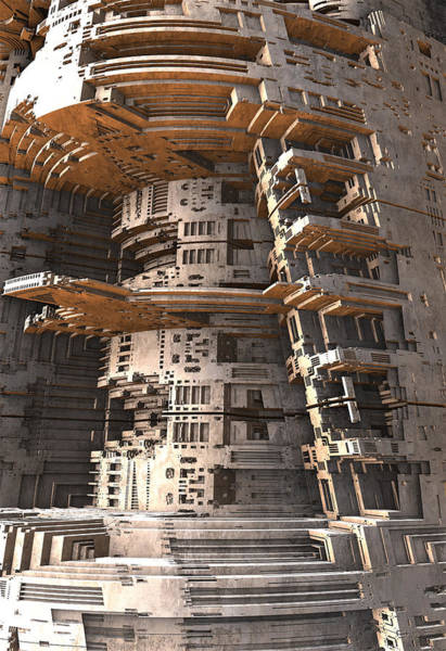 Digital Art - The Big Tower by Hal Tenny