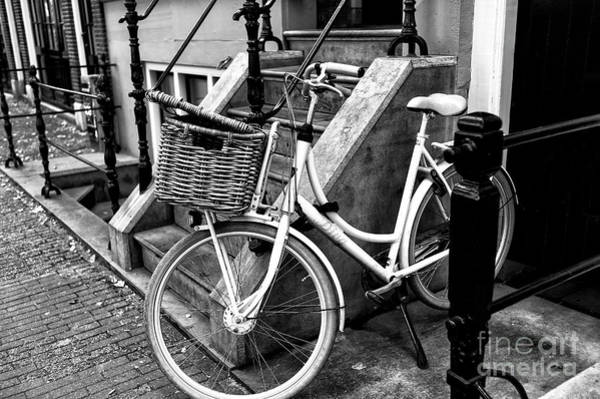 Photograph - The Bike Basket Mono by John Rizzuto