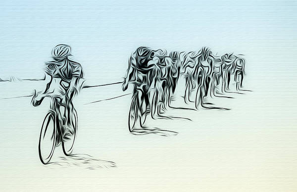 Photograph - The Bike Race by Bill Cannon