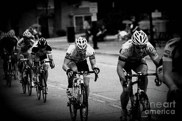 Photograph - The Bike Race - Black And White by Frank J Casella