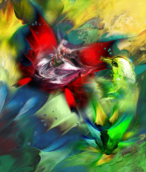 Painting - The Bird And The Butterfly by Miki De Goodaboom