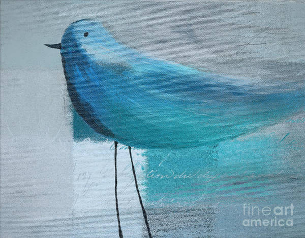 Wall Art - Painting - The Bird - Blue-03cb by Variance Collections