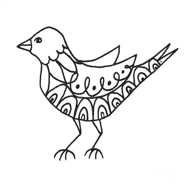 Drawing - The Bird by Helena Tiainen