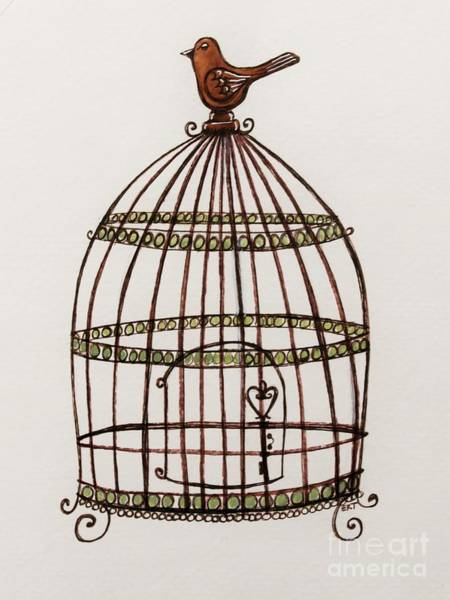 Painting - The Birdcage by Elizabeth Robinette Tyndall