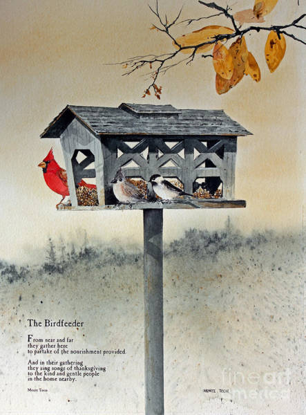 Painting - The Birdfeeder by Monte Toon