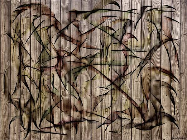 Mixed Media - The Birds Abstract by Marian Palucci-Lonzetta