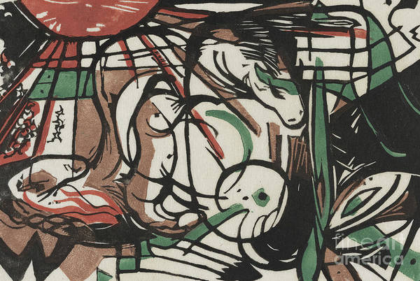 Pregnancy Painting - The Birth Of Horses  Geburt Der Pferde, 1913 by Franz Marc