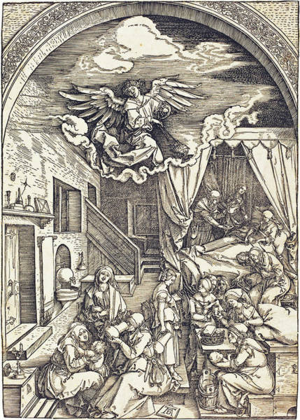 Drawing - The Birth Of The Virgin by Albrecht Durer