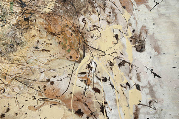 Painting - The Birth Of Universe.  Abstract Fragment 1 by Anna Skorko