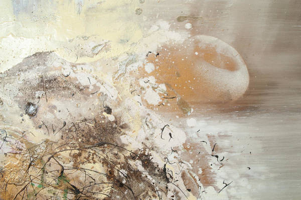 Painting - The Birth Of Universe.  Abstract Fragment 6 by Anna Skorko