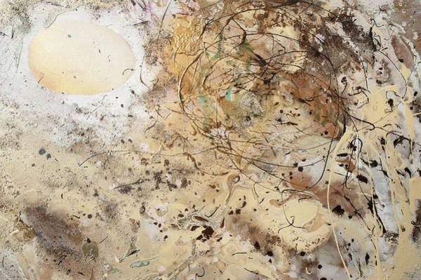 Painting - The Birth Of Universe.  Abstract Fragment by Anna Skorko