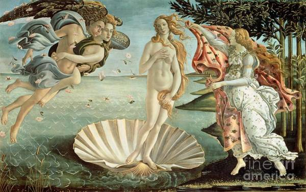 Sandro Botticelli Painting - The Birth Of Venus by Sandro Botticelli