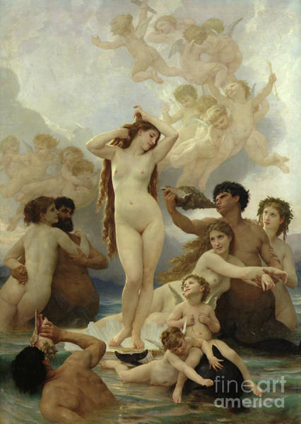 Wall Art - Painting - The Birth Of Venus by William-Adolphe Bouguereau