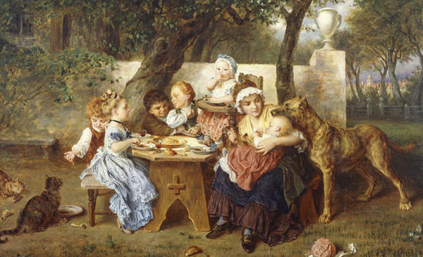 Wall Art - Painting - The Birthday Party by Ludwig Knaus