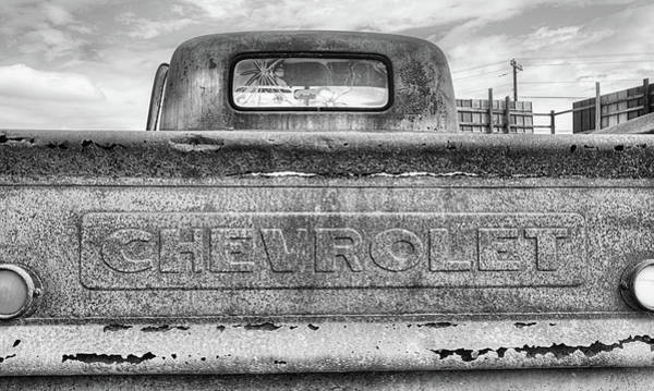 Photograph - The Black And White Chevy Truck by JC Findley