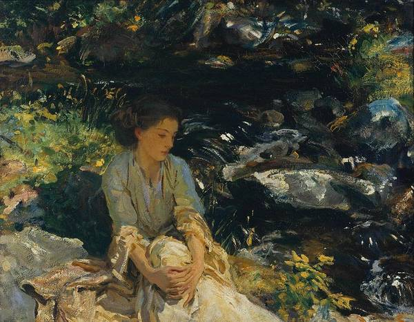 Wall Art - Painting -  The Black Brook by John Singer Sargent