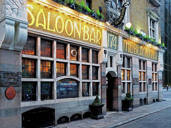 Photograph - The Black Friar Saloon Bar London Pub by Gill Billington