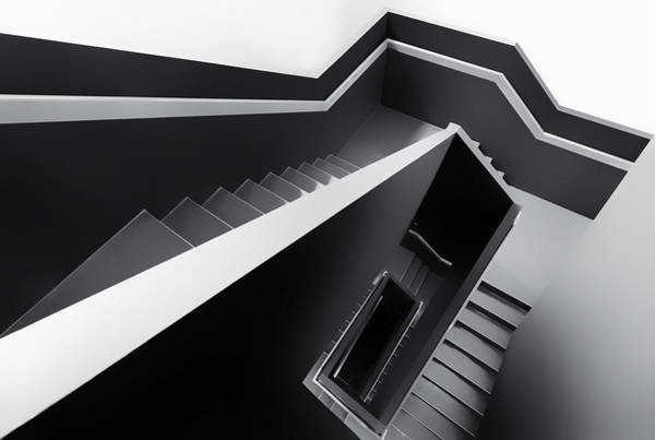 Stairs Wall Art - Photograph - The Black Hole by Gerard Jonkman