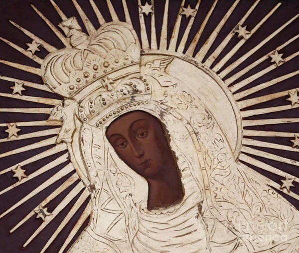 Poland Painting - The Black Madonna Of Czestochowa Detail by Unknown