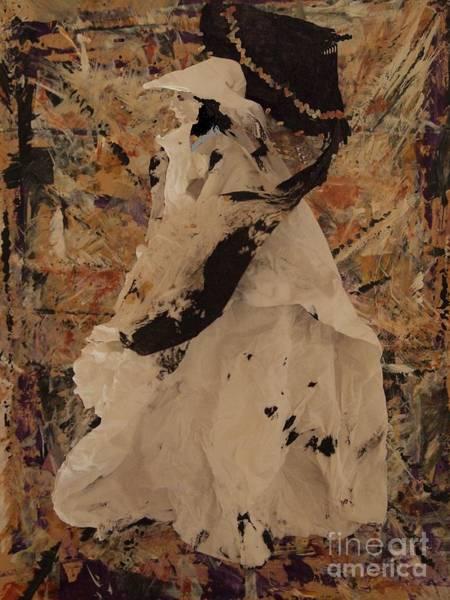 Paper Dress Mixed Media - The Black Umbrella by Nancy Kane Chapman